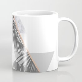 Tropical Marble Blush Pink Gray Copper Coffee Mug
