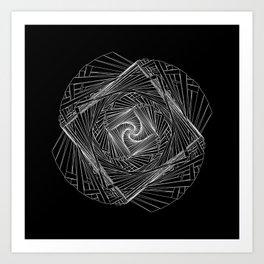 Twisted Geometry Art Print