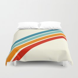 Alator - Classic 70s Retro Summer Stripes Duvet Cover