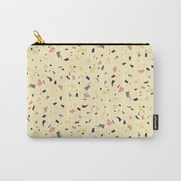 Tiny Delicate Speckles - Yellow Terrazzo Texture - Granite Marble Stylish Pattern  Carry-All Pouch