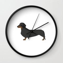 Dacshund Cartoon Wall Clock