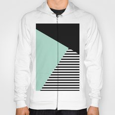 Mint Color Block with Stripes // www.penncilmeinstationery.com Hoody