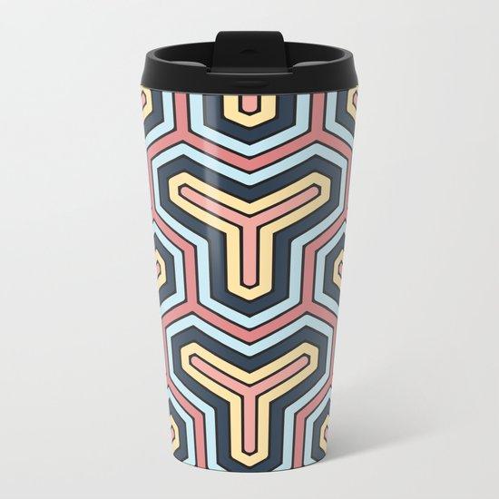 Abstract V Metal Travel Mug