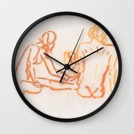 Nudes looking away Wall Clock