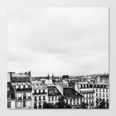 Upon the rooftops (B&W) Canvas Print