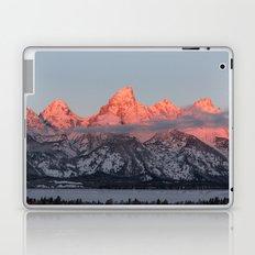 Glowing Pink Sunrise in Grand Teton National Park, Wyoming Laptop & iPad Skin