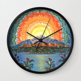 Vision at Sunset Wall Clock