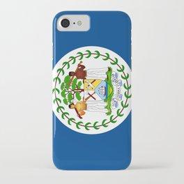flag of belize-Belice, Belizean,Belize City,beliceno,Belmopan iPhone Case