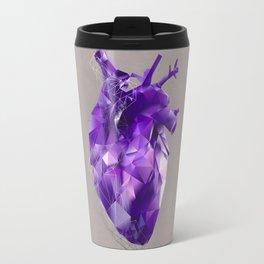 polygon heart // ultraviolet & silver Travel Mug