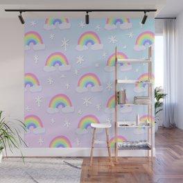 Magical Pastel Rainbows! Wall Mural