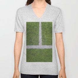Sideline football field, Sideline chalk mark artificial grass soccer field Unisex V-Neck