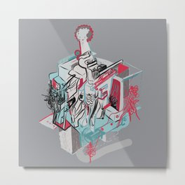 273. Abstract Machine 7 Metal Print