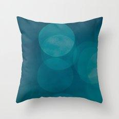 Petrol Blue Throw Pillow