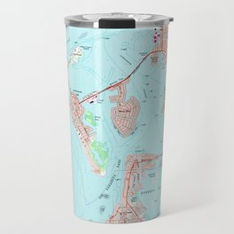 Vintage Map of Sarasota Florida (1973) Travel Mug
