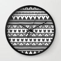 ethnic Wall Clocks featuring |Ethnic by Ricardo Carreno