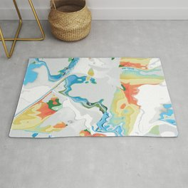 Eazy peazy painterly squeezy Rug