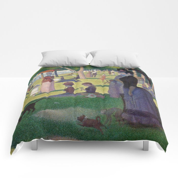 Georges Seurat A Sunday Afternoon On The Island Of La Grande Jatte Comforters By Constantchaos Society6