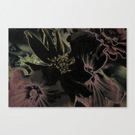 Flower bouquet...Neon Canvas Print