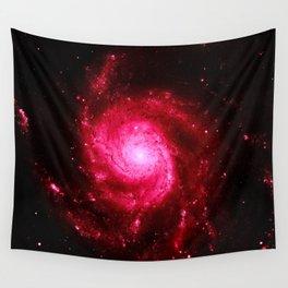 Spiral GalAXy : Hot Pink Wall Tapestry