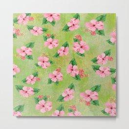 Tropical Flowers Malaysian Inspired Print Metal Print
