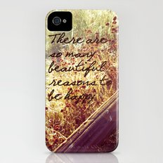 Beautiful Reasons To Be Happy iPhone (4, 4s) Slim Case