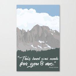 Our Land High Sierra Illustration Canvas Print