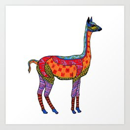 Psychedelic Vicuna Art Print