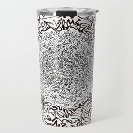 A Pink Result of the Dance, asemic calligraphy for home decoration Travel Mug