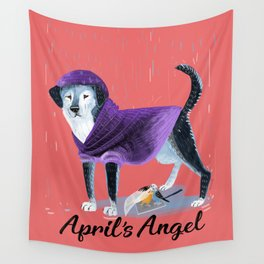 April´s Angel (Doggy Art) Wall Tapestry