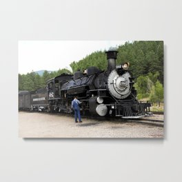 Stop at the Rockwood Depot Metal Print