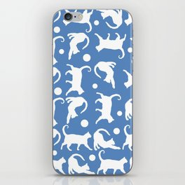 Cats Stretching: CHIN BLUE iPhone Skin
