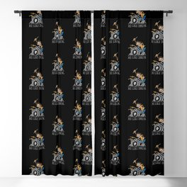 Me Like Drum. Wild Drummer Cartoon Illustration Blackout Curtain
