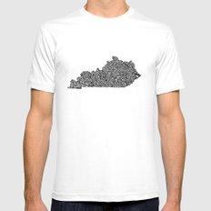 Typographic Kentucky Mens Fitted Tee White MEDIUM