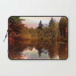 Mirror Pond, Perfect Stillness At Sunset Laptop Sleeve