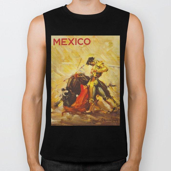 Vintage Mexico Bullfighting Travel Biker Tank