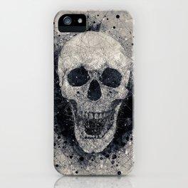 Rebel Skull, Geometric Abstract, Halloween Print iPhone Case