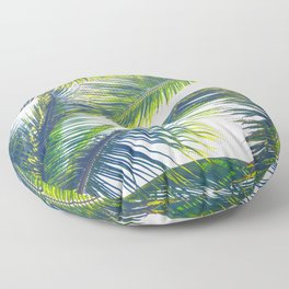 Even More Summer Palms Floor Pillow