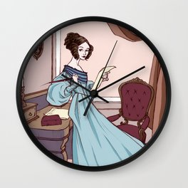 Ada Lovelace, The Enchantress of Numbers Wall Clock