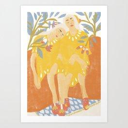 Botanical Girls Art Print