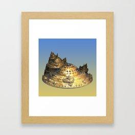 City of Gold Fractal Framed Art Print