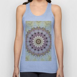 Summer Yellow and dusk Mandala Unisex Tank Top