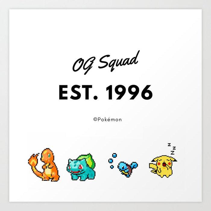 OG Squad Art Print by amateurchelsey