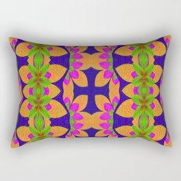 Lush Antique Spanish Boho Vintage Cross Rectangular Pillow