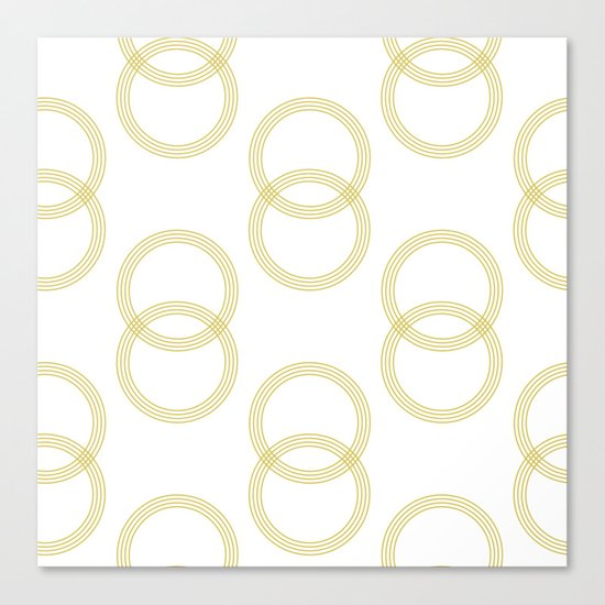 Simply Infinity Link Mod Yellow and White Canvas Print