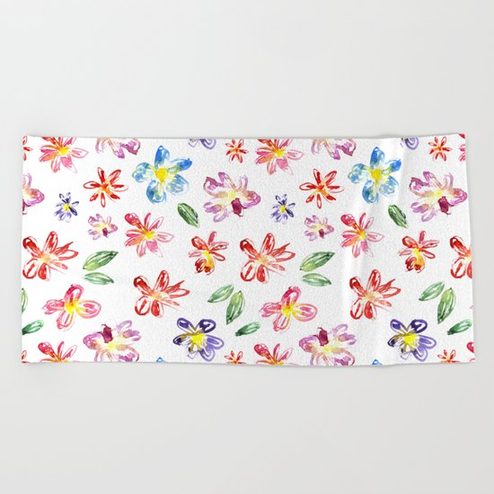 Flower glade Beach Towel