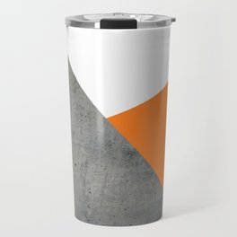 Concrete Tangerine White Travel Mug