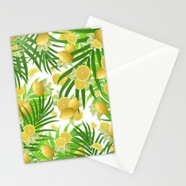 Summer Lemon Twist Jungle #2 #tropical #decor #art #society6 Stationery Cards