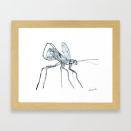 Mosquito, Watercolor Framed Art Print