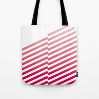 bands Tote Bags featuring Red Bands by blacknote