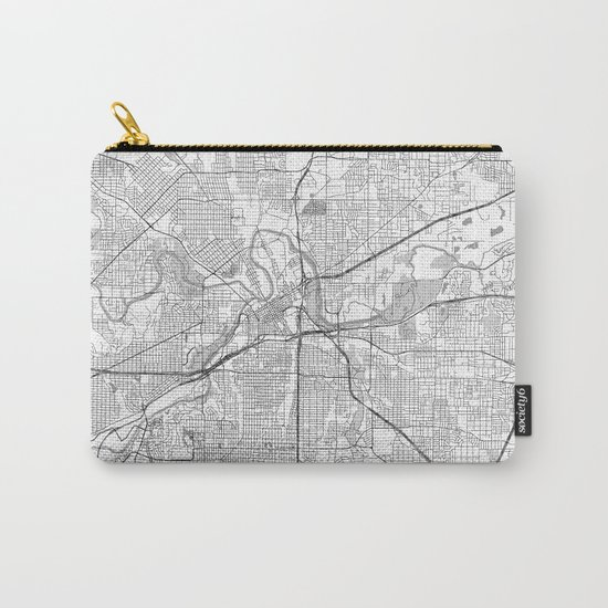 Fort Worth Map Line Carry-All Pouch
